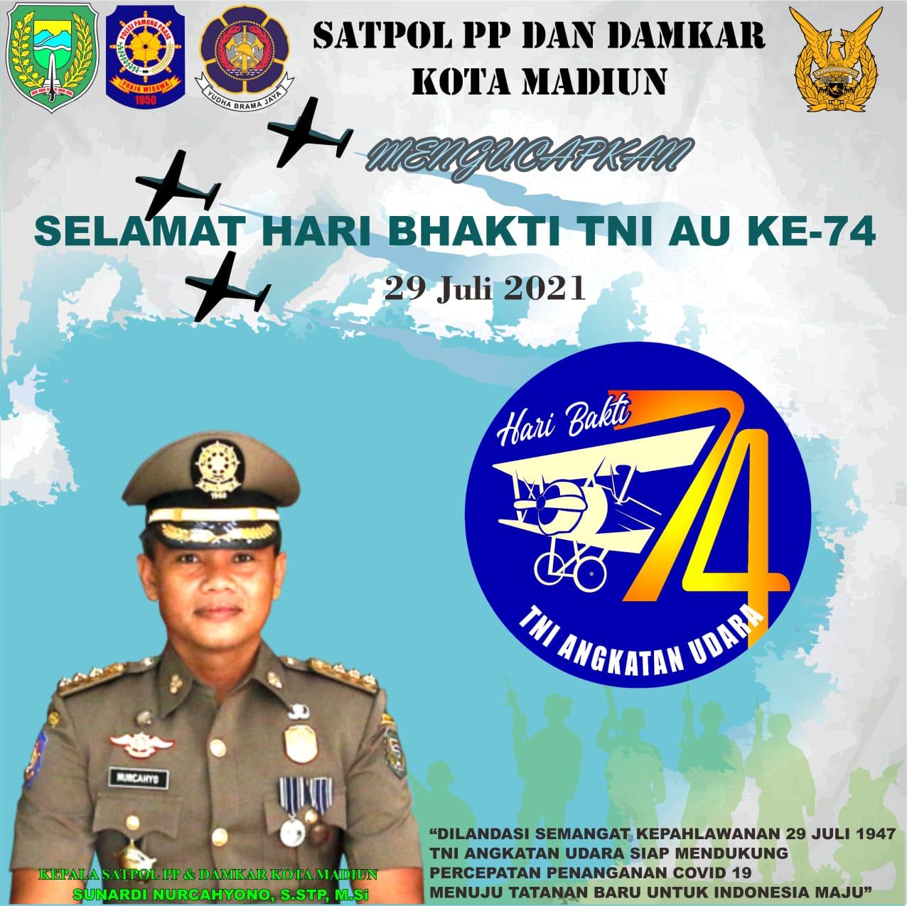 Selamat Hari Bhakti TNI AU Ke-74